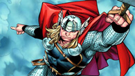 Thor flies over the countryside when being attack by different warriors.Help our hero in this game using his hero powers and your skills.