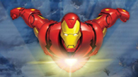 <b>Iron Man</b>, is flying through the sky when suddenly lots of flying robots come altogether to attack  the super hero. Help our hero defending his position.